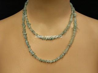 akvamarín + náhrdelník sekaný