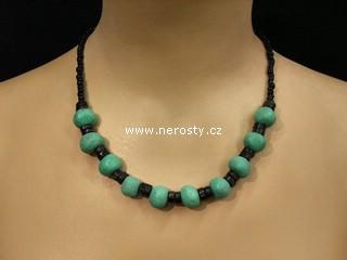 amazonka náhrdelník + korálky