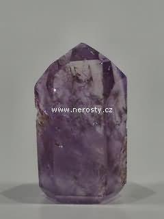 ametyst + leštěný krystal