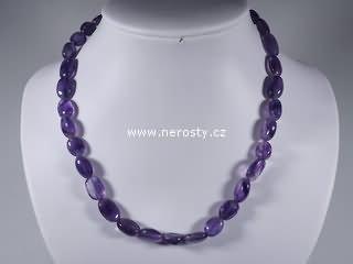 ametyst + náhrdelník