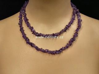 ametyst + náhrdelník sekaný