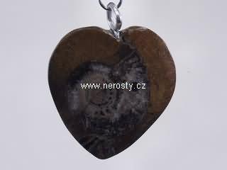 amonit + srdce + přívěšek