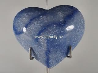 avanturín + modrý + srdce