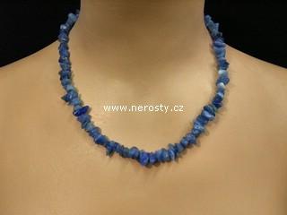 chalcedon + barvený + náhrdelník sekaný