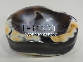 chalcedon + miska + volný tvar