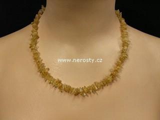citrín + náhrdelník sekaný