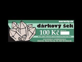dárkový šek + 100 Kč