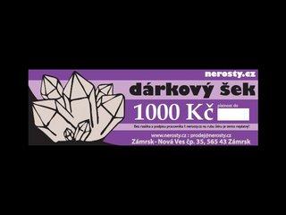dárkový šek + 1000 Kč