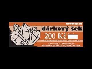 dárkový šek + 200 Kč