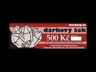 dárkový šek + 500 Kč