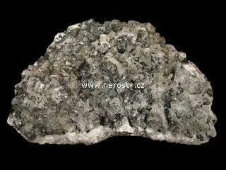 fluorit + křemen + pyrit
