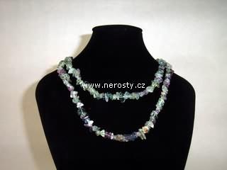 fluorit + náhrdelník