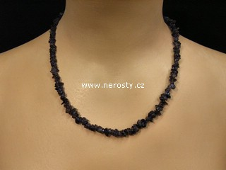 fluorit + náhrdelník sekaný