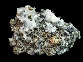 galenit + chalkopyrit + křemen