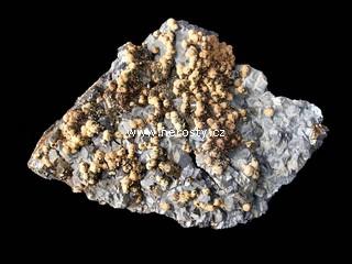 galenit + manganokalcit