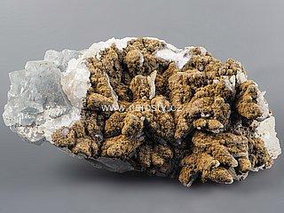 goethit + fluorit