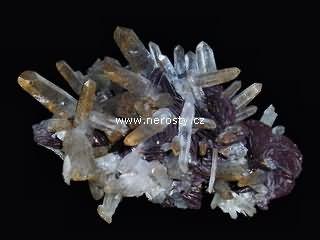 hematit + křišťál