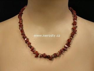 jaspis + náhrdelník sekaný