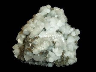 kalcit + fluorit + křemen