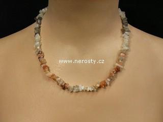 kalcit + náhrdelník sekaný