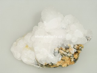 kalcit + rodochrozit + pyrit