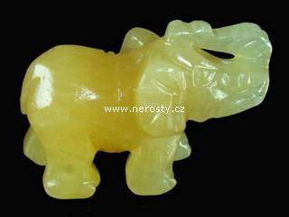 kalcit + slon