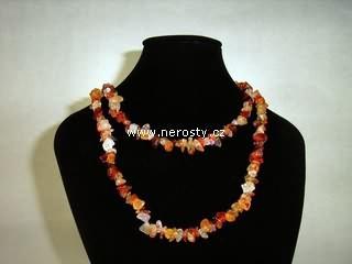 karneol + náhrdelník