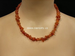 karneol + náhrdelník sekaný