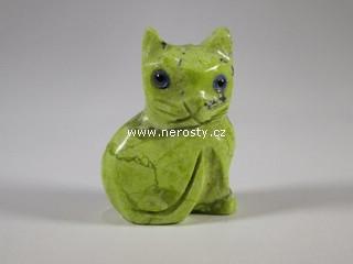 kočka + kalcit