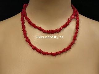 korál + náhrdelník sekaný