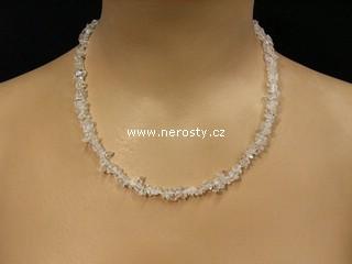 křišťál + náhrdelník sekaný