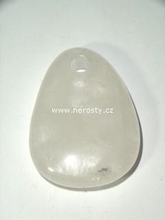 křišťál + vrtaný kámen