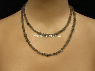 labradorit + náhrdelník sekaný