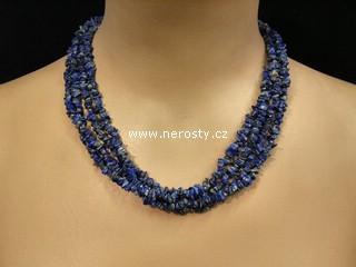 lazurit + lapis lazuri + náhrdelník