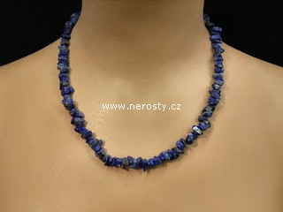 lazurit + náhrdelník sekaný + lapis lazuri