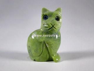 kočka, kalcit