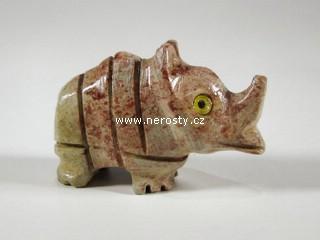 nosorožec, kalcit