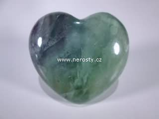fluorit, srdce