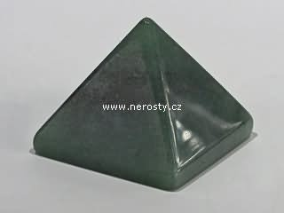 avanturín, pyramida