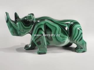 malachit, nosorožec