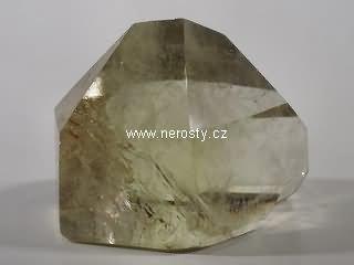 citrín, leštěný krystal