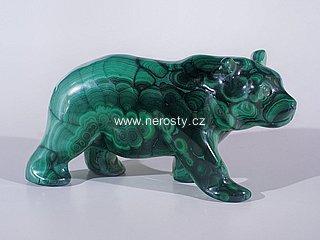 malachit, medvěd