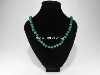 malachit + náhrdelník