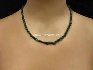 malachit + náhrdelník sekaný
