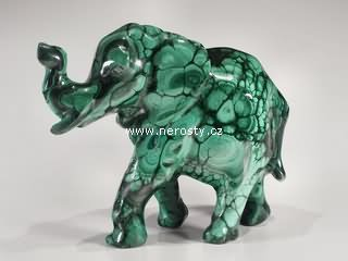 malachit + slon