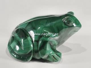 malachit + žába