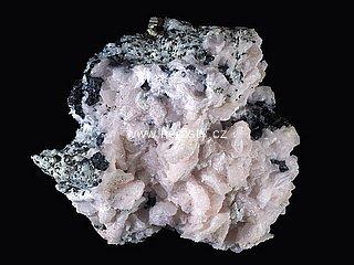 manganokalcit + sfalerit + pyrit, křemen