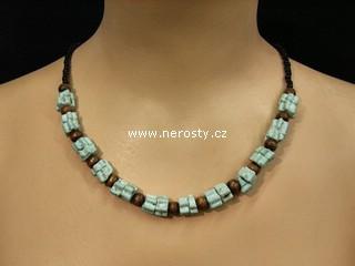 mentol náhrdelník + korálky