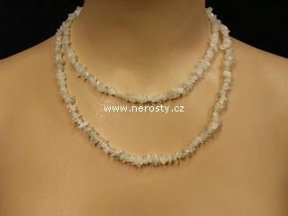 měsíční kámen + náhrdelník sekaný