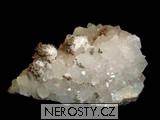 křemen, pyrit, kalcit